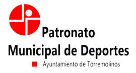 Logo Patronato Municipal de Deportes del Ayuntamiento de Torremolinos